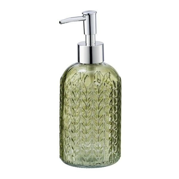 Zelený skleněný dávkovač mýdla Wenko Vetro
