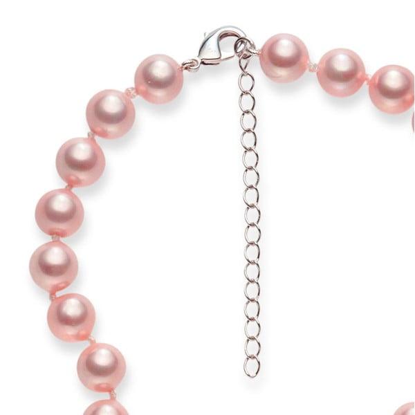 Růžový perlový náhrdelník Pearls Of London Mystic Rose, 50cm