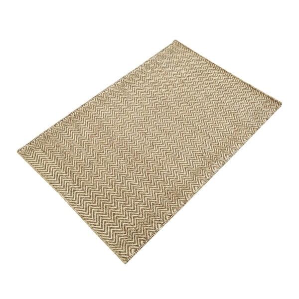 Ručně tkaný koberec Brown Zigzag Kilim, 74x115 cm