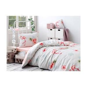 Set lenjerie de pat și cearșaf din bumbac Rassido Muiro, 160 x 220 cm