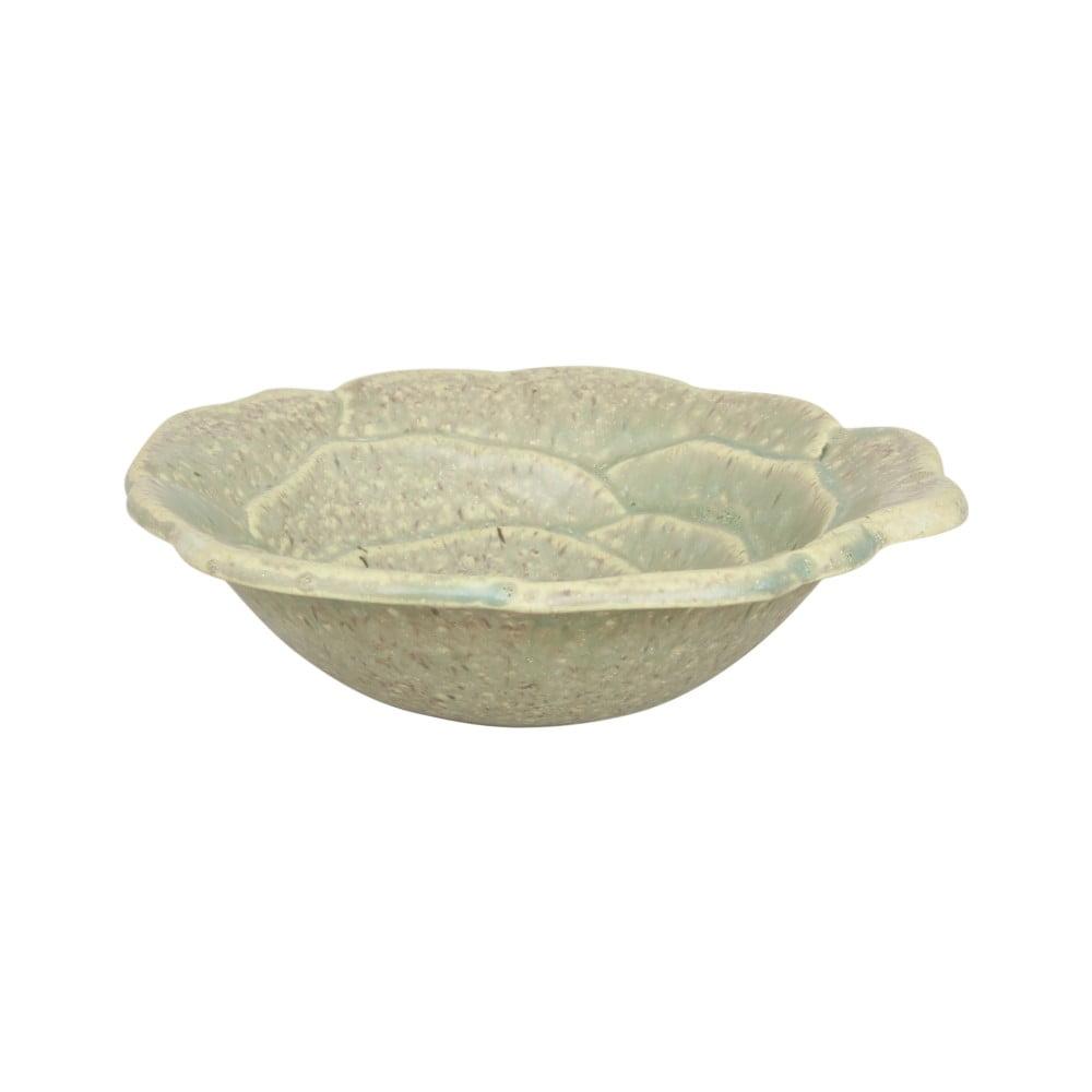 Světle zelená miska z keramiky Strömshaga, Ø 19 cm