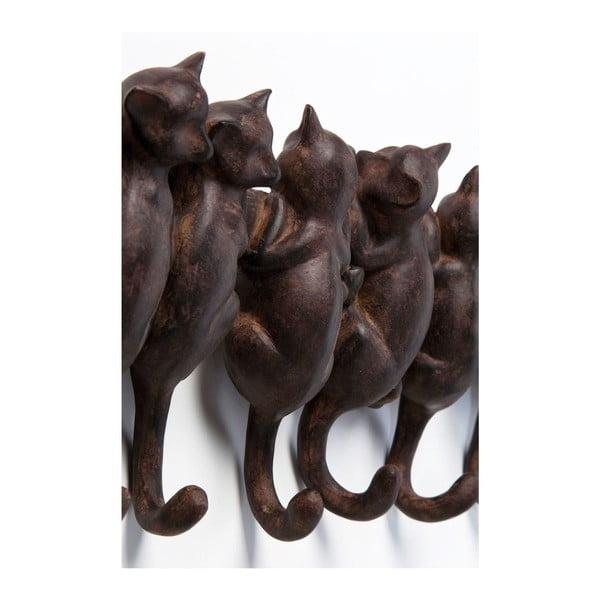 Cuier de perete Kare Design Cats, maro