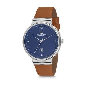 Pánské hodinky s hnědým koženým řemínkem Bigotti Milano Greece