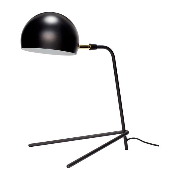 Čierna stolová lampa Hübsch Stephan