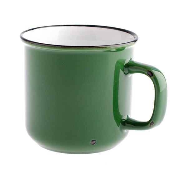Zielony kubek ceramiczny Dakls, 440 ml