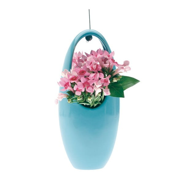 Závěsná váza, egg blue