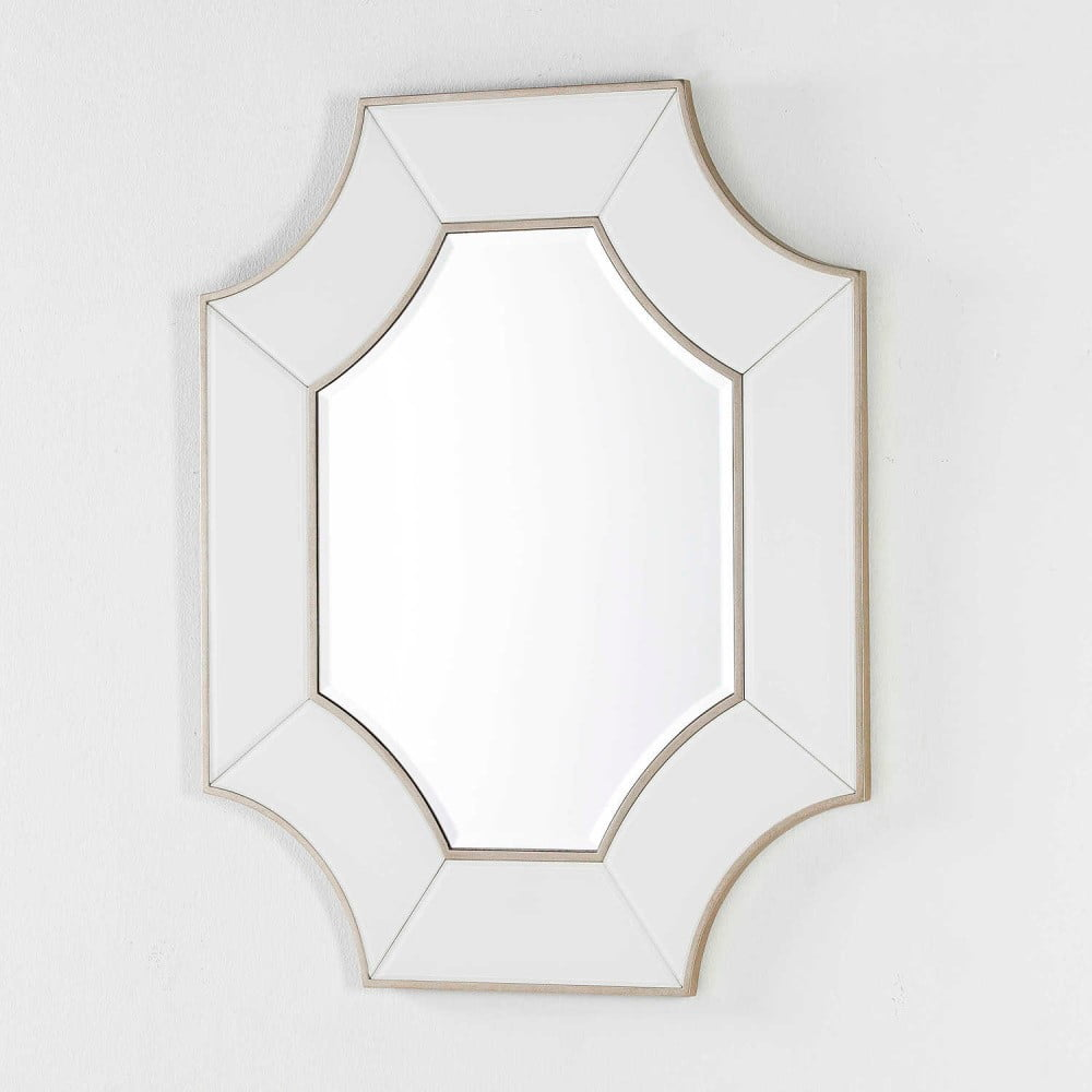 Nástěnné zrcadlo s bílým rámem Thai Natura, délka100cm