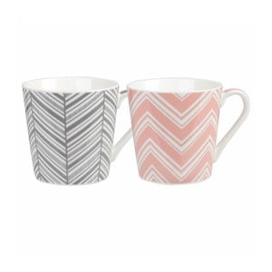 Sada 2 hrnků Churchill China Geometric Chevron, 325 ml