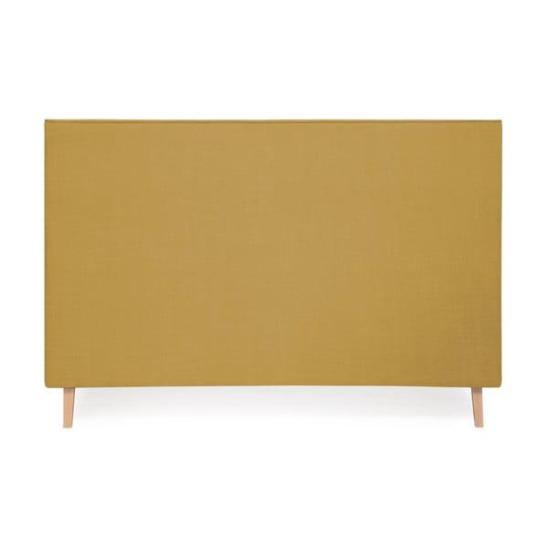 Kukuřičně žlutá postel Vivonita Kent Linen, 200x180cm