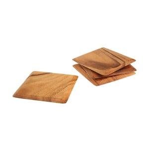 Set 4 suporturi din lemn de salcâm pentru căni T&G Woodware Tuscany