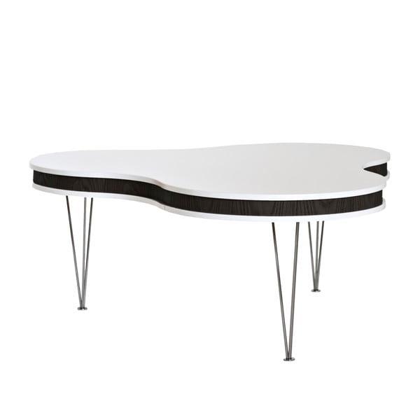 Černobílý konferenční stolek RGE Hugo Clover
