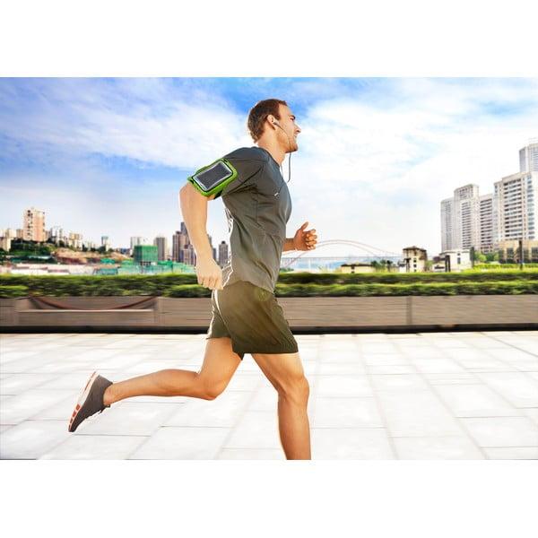Sportovní neoprenové pouzdro Armband Running, limetkové