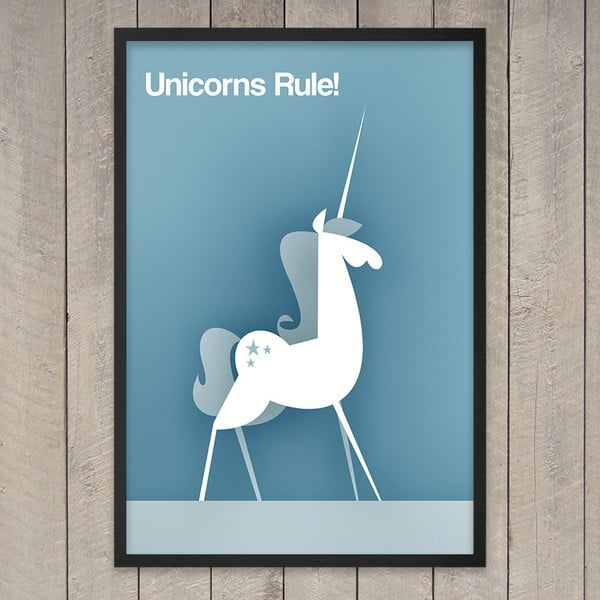 Plakát Unicorns rule, 29,7x42 cm