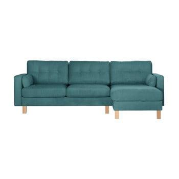 Canapea cu șezlong pe partea dreaptă Stella Cadente Maison Lagoa albastru