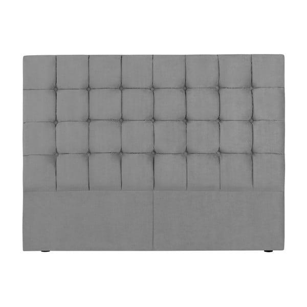 Szary zagłówek łóżka Kooko Home Hasso, 120x160 cm