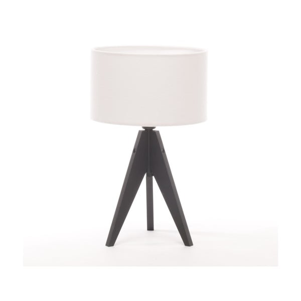 Stolní lampa Artista Black Birch/White Felt, 28 cm
