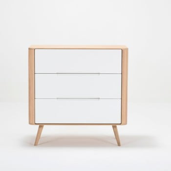 Comodă cu sertare din lemn de stejar Gazzda Ena One, 90 x 90 cm de la Gazzda