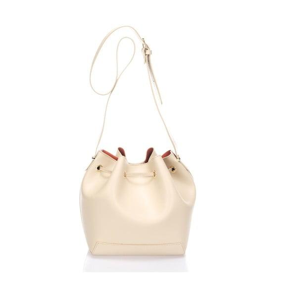 Béžová kožená kabelka Krole Klara