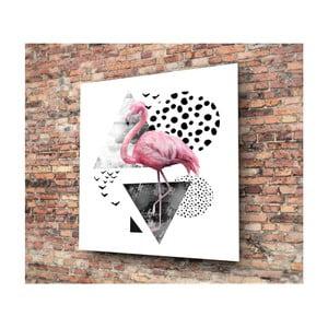 Skleněný obraz 3D Art Graphico Flamingo, 50x50cm