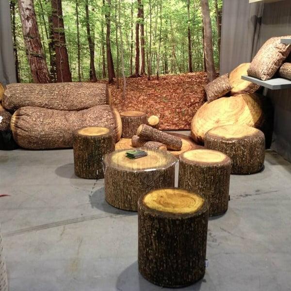 Puf MeroWings Forest Tree, Ø 40 cm