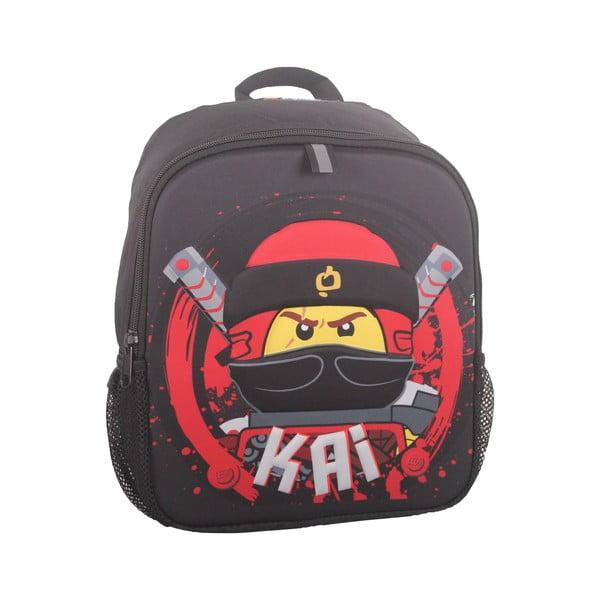 Czarny plecak LEGO® NINJAGO Kai, 32x26x7 cm
