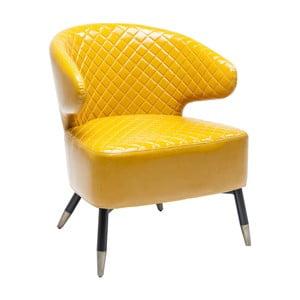 Žluté křeslo Kare Design Session