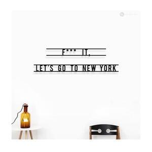 Nástěnná dřevěná dekorace Let's Go To New York