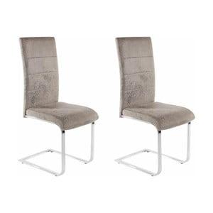 Sada 2 světle šedých židlí Støraa Kosuma