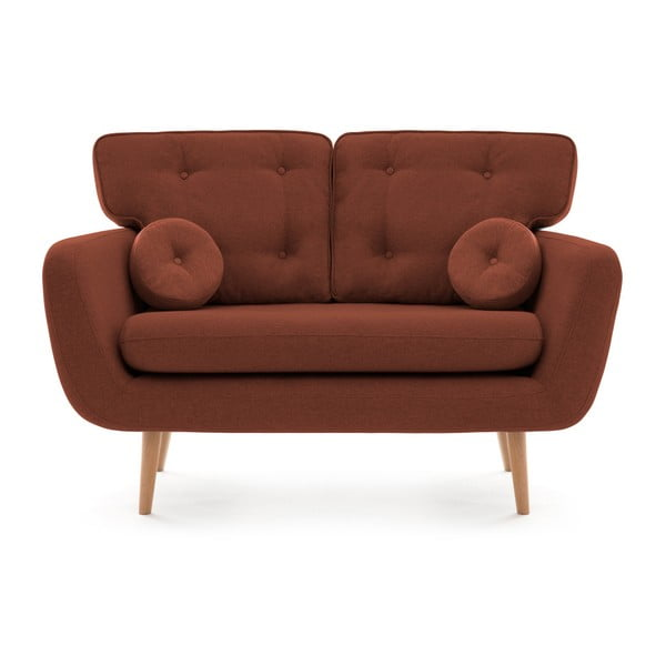 Canapea cu 2 locuri Vivonia Malva, roșu închis