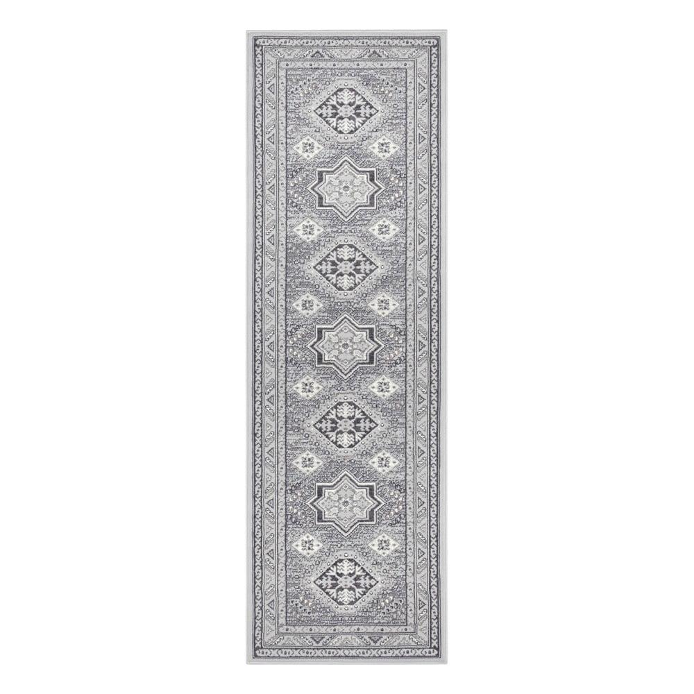 Světle šedý koberec Nouristan Saricha Belutsch, 80 x 250 cm