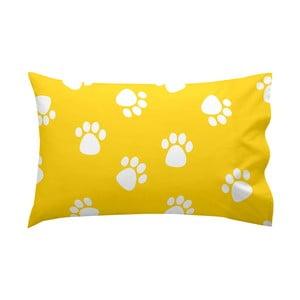 Žlutý bavlněný povlak na polštář Mr. Fox Dogs, 50x30cm