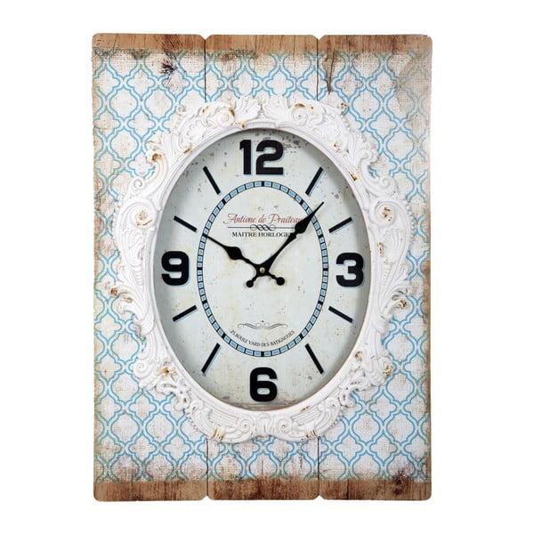 Světle modré nástěnné hodiny Mauro Ferretti Shabby Dream, 42 x 58 cm
