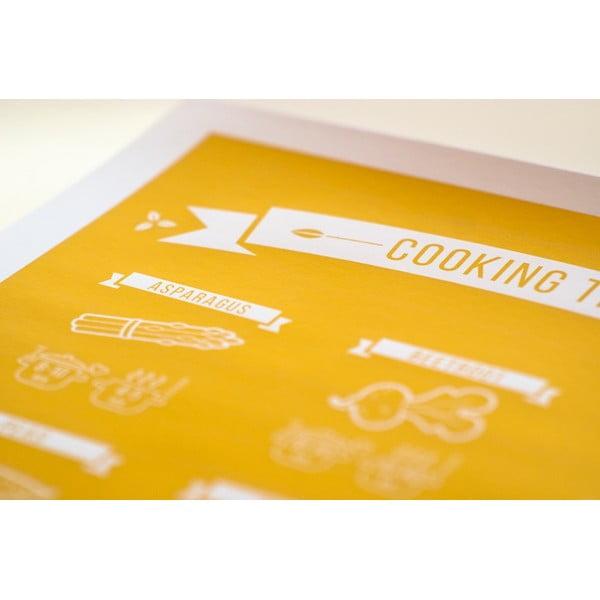 Barevný plakát Follygraph Cooking Times, 30x40cm