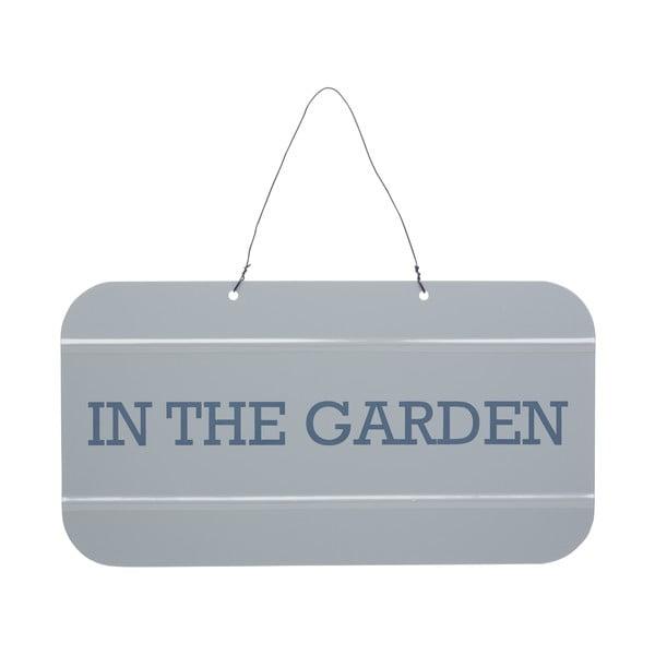 Šedá cedulka Kitchen Craft Jsem v zahradě