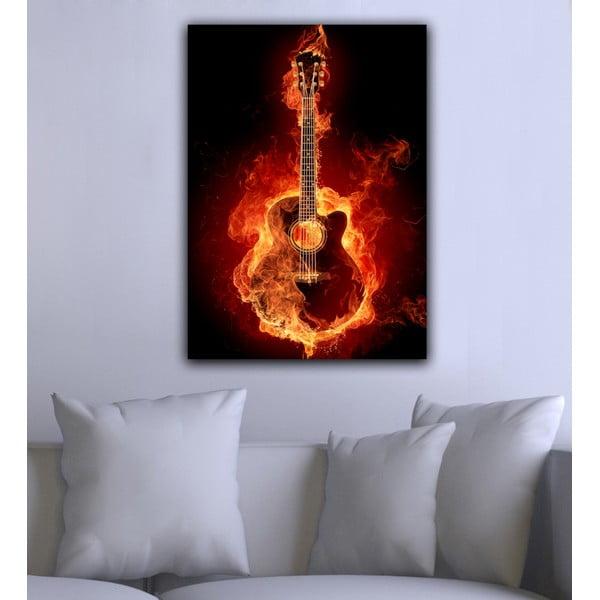 Obraz Kytara v ohni, 45x70 cm