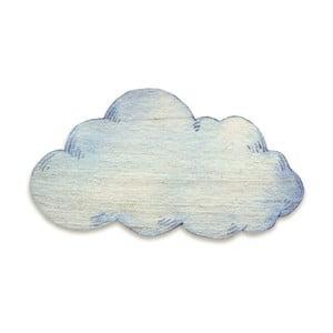 Dřevěná nástěnná dekorace Tanuki Cloud, 110x65 cm