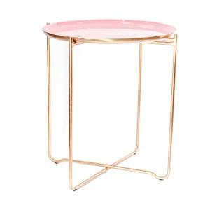 Růžový odkládací stolek 360 Living Cady, ⌀ 50,5 cm
