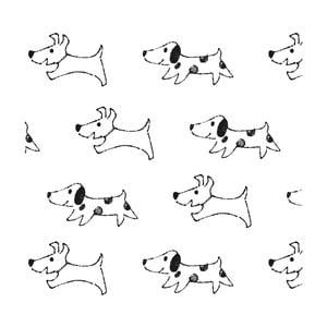 Tapeta do dětského pokoje Art For Kids Happy Dogs, 48x1000 cm