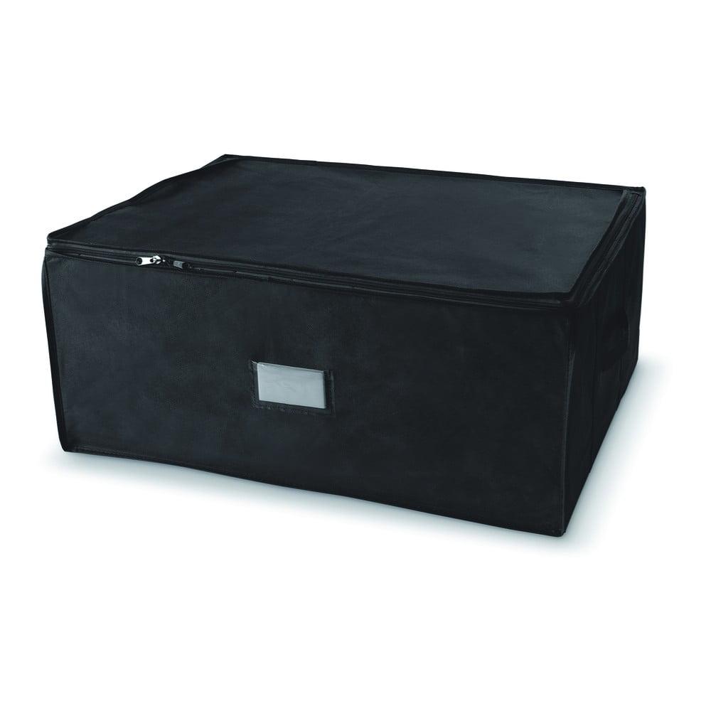 Černý úložný box se zapínáním na zip Compactor Compress Pack, 210 l