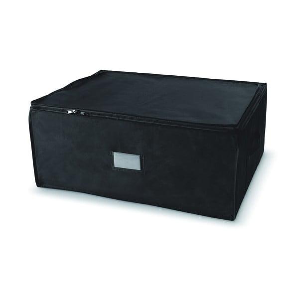 Czarny pojemnik z zapięciem na suwak Compactor Compress Pack, 210 l