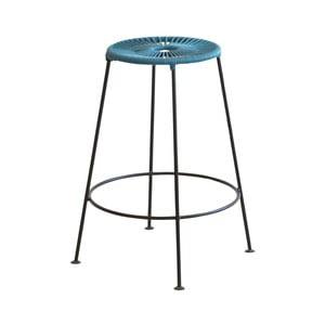 Modrá barová stolička OK Design Acapulco, výška66cm