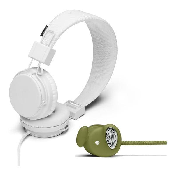 Sluchátka Plattan White + sluchátka Medis Olive ZDARMA