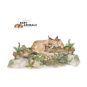 Autocolant de perete Dekornik My Little Wild Cat, 160 x 75 cm imagine