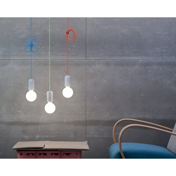 Svítidlo od Jakuba Velínského - tmavě modrý pixel, 1,2 m