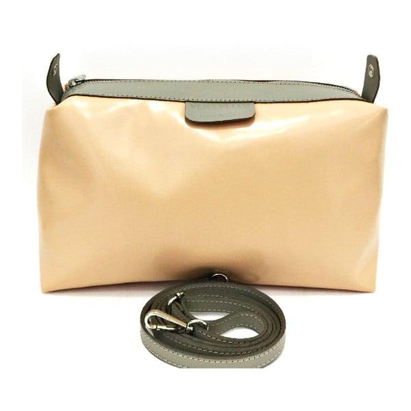 Kožená kabelka Cleia Taupe