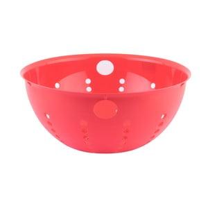 Červený plastový cedník Tantitoni Candy, ⌀ 28 cm