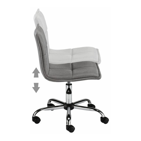 Šedá kancelářská židle na kolečkách Støraa Bartal