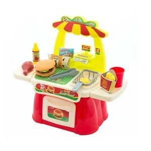 Dětský hrací stánek s občerstvením InnovaGoods Fast Food Game