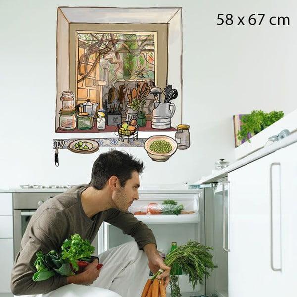 Samolepka Window Seen from the Kitchen, 58x67 cm