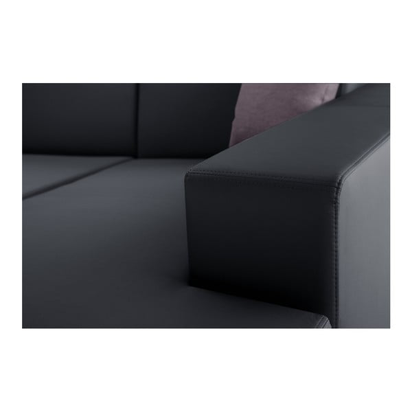 Antracitová rozkládací sedačka Interieur De Famille Paris Tresor, pravý roh